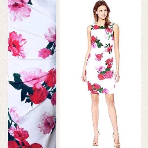 81b4948a23f02 Calvin Klein Dresses | Nwt Floral Print Starburst Scuba | Poshmark